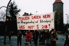 Demonstration gegen § 218